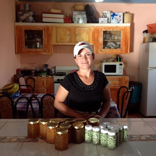 Lourdes from Capula with her xoconostle jam & nopal pills