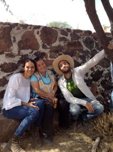 Enjoying a carne asada at the non-profit, CIASPE in Querétaro, México.